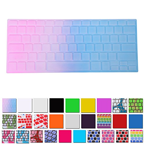 Hde Silicone Rubber Keyboard Skin For Macbook & Macbook Pro (Blue/Pink Gradient)