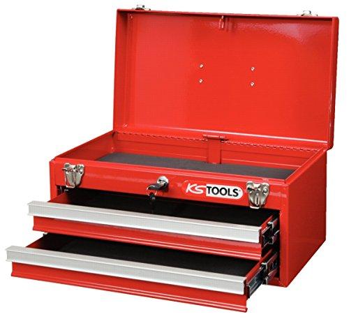 Werkzeugkiste 2 Schubladen u. Oberfach aufklappbar H 240 x B 440 x T240mm