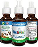 Diabetes In Dogs, Diabetic Supplies For Dogs With Diabetes, Natural Relief, Lifetime Warranty! 30ml Pet Diabetes Support Product, Proven Relief With No Side Effects! Made In USA By Pet Relief