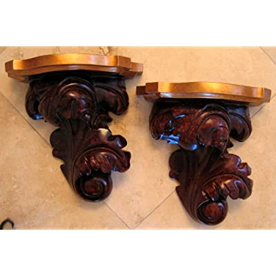 Amazon Com Decorative Sculptured Wall Sconce Shelves
