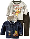 Disney Baby-Boys Infant 3 Piece Winnie The Pooh And Tigger Denim Jacket Set