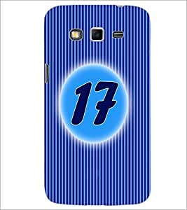 PrintDhaba Numerology Number 17 D-2573 Back Case Cover for SAMSUNG GALAXY GRAND 2 (Multi-Coloured)