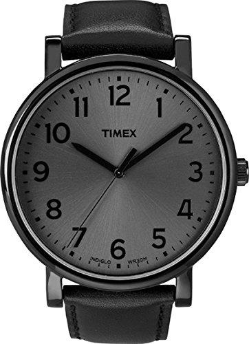 Timex T2N346 Orologio Analogico da Polso, Unisex, Pelle, Nero