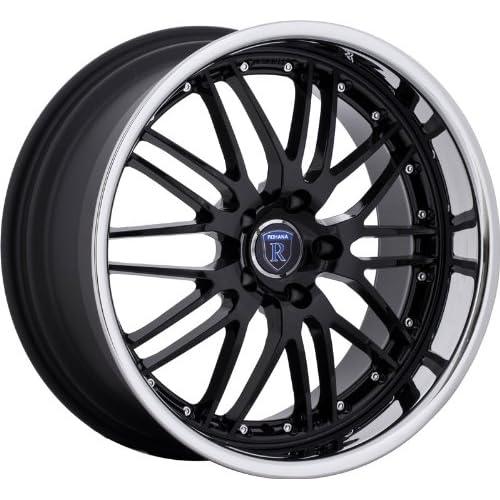 Rohana RL06 19x8.5 19x9.5 Toyota Infiniti Nissan Lexus Staggered Wheels Rims Black Chrome 4pc 1set