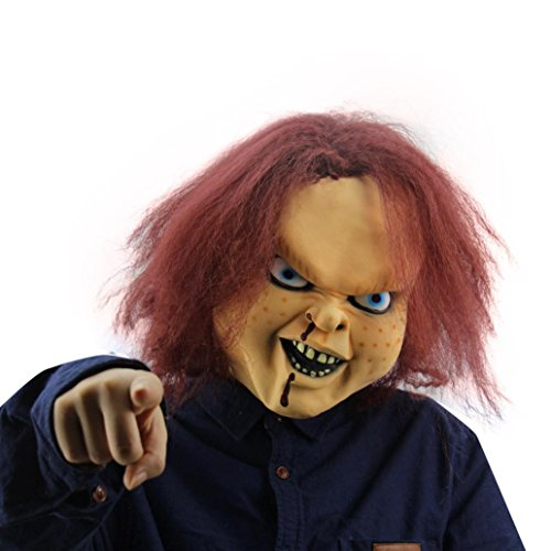 [AMA(TM) Halloween Party Wacky Mask Cosplay Mask Terror Mask Head Mask (F)] (Chucky Costumes For Children)