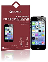 SAMAR® - Supreme Quality New Iphone 5/5S/5C Crystal Clear Screen Protectors (Released 2013) 6 in Pack - Includes Microfiber Cleaning Cloth