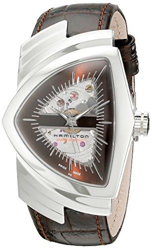 Hamilton Hombre h24515591Ventura analógica pantalla automático viento reloj, color marrón