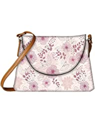 Snoogg Floral Petals Designer Womens Carry Around Sling Bags - B01I1DACK0