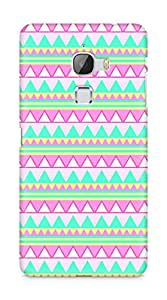 Amez designer printed 3d premium high quality back case cover for LeEco Letv Le Max (pink green aztec)