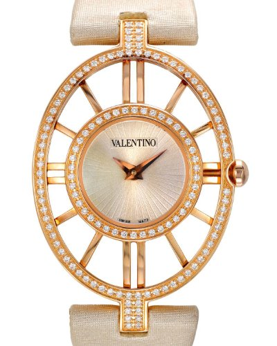 VALENTINO Stainless Steel 0.75 CTW Color G-H VS1-VS2 Diamond Women Watch.