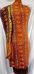 Shubh Women's Dress Material (79910CDRUBK_Rust Black_Free Size)