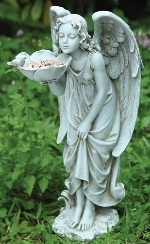 17u2033 H Girl Angel Bird Feeder (Please See Item Detail In Description)
