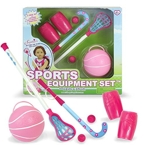 18 Inch Doll Pretend Sport Equipment Set, Complete Sports Equipment, Set Perfect for American Girl Dolls, Doll Furniture & More! Sports Equipment