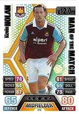 Match Attax 2013/2014 Kevin Nolan West Ham 13/14 Man Of The Match
