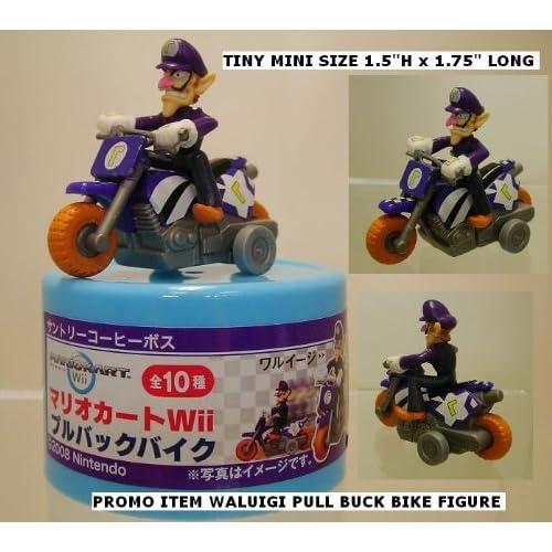 Nintnedo Super Mario Kart Waluigi Bike Pull Back Figure (Japanese