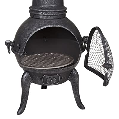 Small Cast Iron Chiminea by Fire Mountain