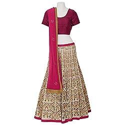 Moh Womens Cotton Silk Lehenga Choli (M_8_Wle48_L _White_Large)