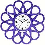Moments,Ocean 01, Wooden Clock With Dome Glass. Size(43cm*43cm),red (violet)