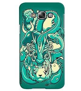 Omnam Effect Made Of Many Animal Printed Designer Back Case Samsung Galaxy E5