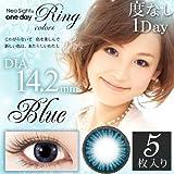 ネオサイト ワンデー リング カラーズ 1日交換 1箱5枚入 DIA14.2mm ブルー PWR±0.00 ランキングお取り寄せ