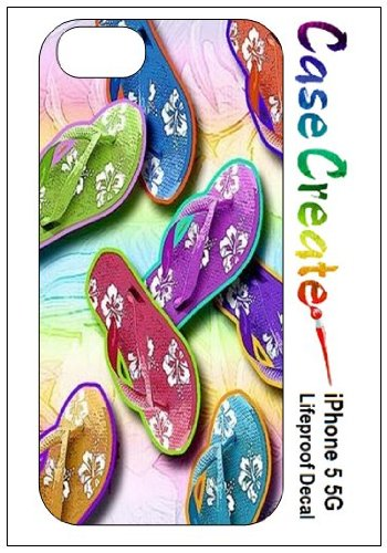 Flip Flops Sandals Decorative Sticker Decal For Your Iphone 5 Lifeproof Case front-497538