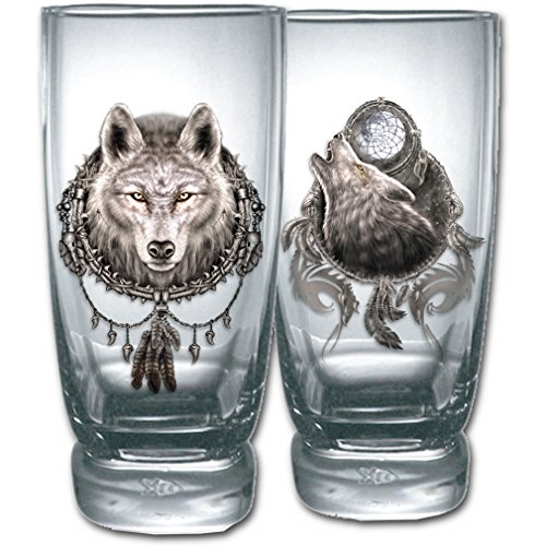 Spiral gotico Set di bicchieri - Dream Catcher Wolf Water Glasses Set Of 2