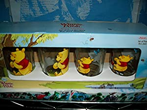 Winnie the Pooh & Friends Juice Glasses set of 4 assorted 8 oz. Juice Glasses