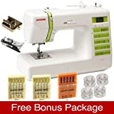 Janome Decor Computerized Sewing Machine with 50 Built-In Stitches, Hard Case included, and FREE BONUS PACKAGE!!!!