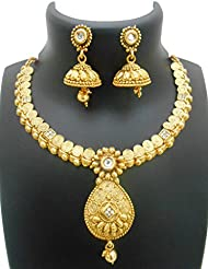 Ethnic Gold Plated Bridal Necklace Set By My Design