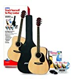 Alfreds Teach Yourself to Play Acoustic Guitar, Complete Starter Pack (Acoustic Guitar, Carrying Case, Accessories, Lesson Book, CD, DVD, Interactive Software, Tuner, Picks)