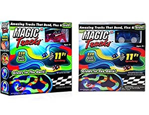 Magic Tracks (Set of 2) 1 red car & 1 blue car AS SEEN ON TV