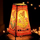 Unravel India Ganesha Leather Puppetry Floor/Table Lamp