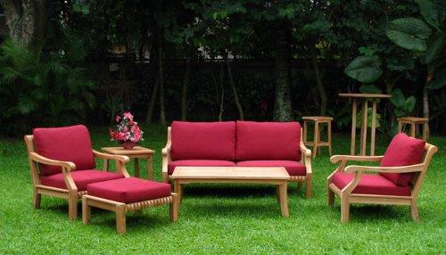 Furniture outdoor furniture teak furniture 6 piece for Outdoor furniture zurich