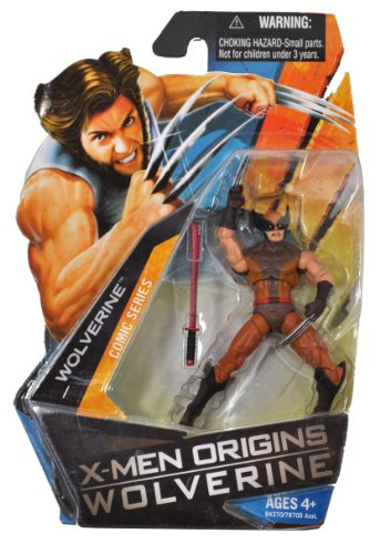 Buy Low Price Hasbro X-Men Origins Wolverine Comic Series 4 Inch Tall Action Figure – WOLVERINE in Brown Suit with Red Samurai Sword (B003UGVII4)
