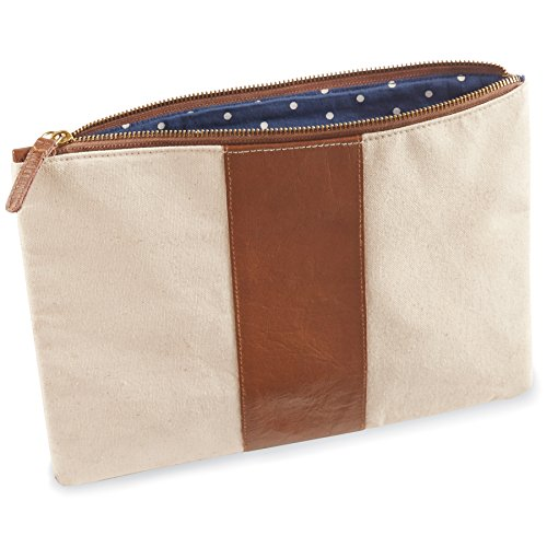 Leather and Canvas Carry All Case (Mud Pie Leather Tote compare prices)