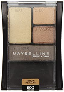 Maybelline New York Expert Wear Eyeshadow Quads, 50q Sunlit Bronze Modern Metallics, 0.17 Ounce