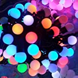 DODOLIGHTNESS 100 RGB Ball LED Color Changing with 10meter Linkable Ball String Christmas Xmas Lights Party Lights
