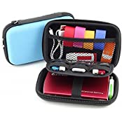 Hard Drive Case 2.5 Hard Drive Bag EVA Shockproof Carrying Travel Pouch For 2.5-Inch Portable External Hard Drive... - B01F067K8I