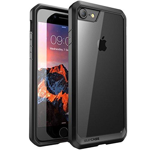 Custodia-iPhone-7SUPCASE-Unicorn-Beetle-Cover-Protettiva-con-Impact-Absorbing-Gomma-e-pannello-posteriore-completamente-trasparente-per-Apple-iPhone-7-2016-TrasparenteNero