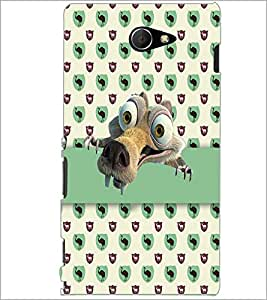 PrintDhaba Scrat D-2985 Back Case Cover for SONY XPERIA M2 (Multi-Coloured)