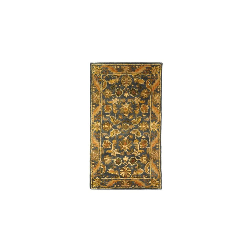 Traditional Rug   Antiquity Wool Pile  Blue/Gold Blue/Gold/Traditional/6LX6W/Square