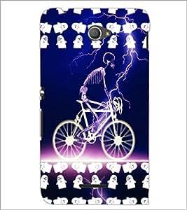 PrintDhaba Skeleton D-2858 Back Case Cover for SONY XPERIA E4 (Multi-Coloured)
