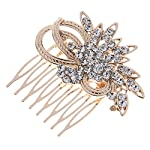 Remedios Vintage Crystal Bridal Hair Comb Wedding Hair Accessory, Light Gold