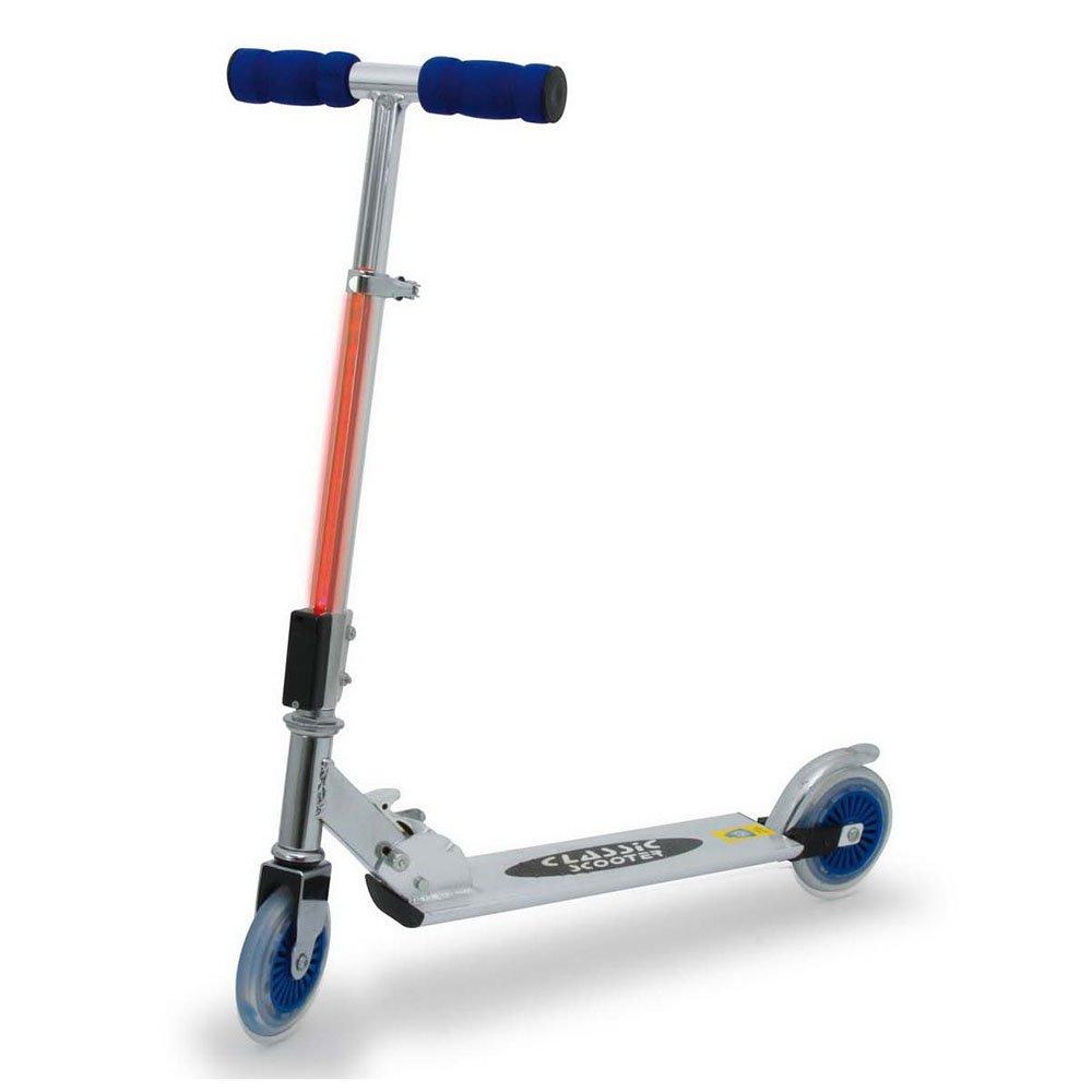 Small Foot Company Flash 9509, monopattino a due ruote con luce lampeggiante sull'asta del manubrio