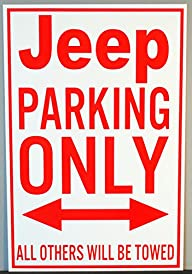 METAL STREET SIGN JEEP PARKING ONLY 1…