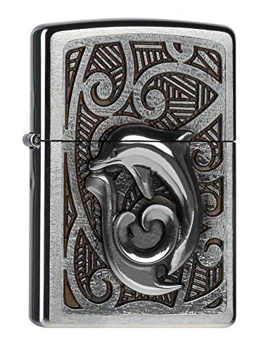 zippo-accendino-motivo-maori-dolphin-argento-edelstahloptik
