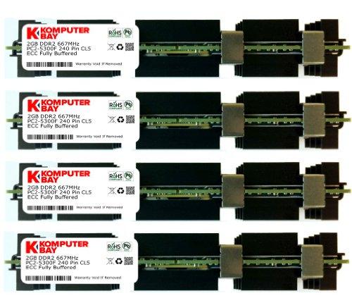 PC2-5300F DDR2 Fully Buffered Server Memory RAM Upgrade Kit 24x4GB 96GB
