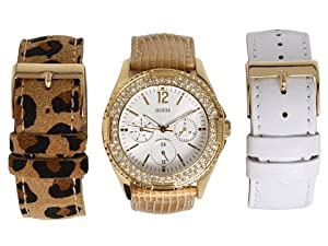 GUESS Women's U13597L1 Feminine Classic Hi-Energy Gold Tone Watch