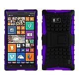 Nokia Lumia 930 Case,Cruzerlite Hybrid Dual Layer Armour Kickstand Case for Nokia Lumia 930 - Purple