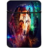 Snoogg Wolf Of Hearts 14 Inch Laptop Case Flip Sleeve Bag Computer Cover